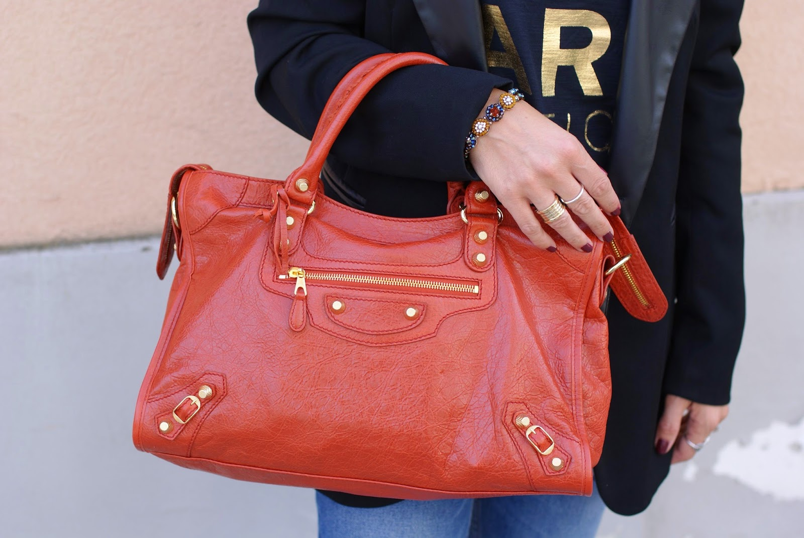 Balenciaga City rouge ambre, balenciaga golden giant 21, Fashion and Cookies, fashion blogger