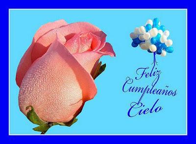 feliz cumpleaños cielo