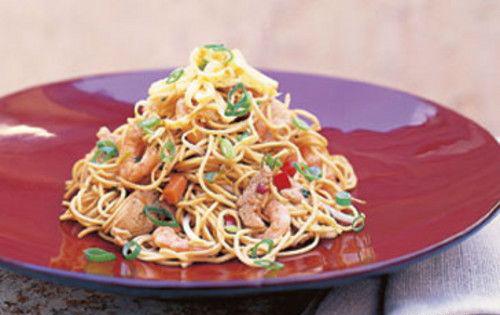 Рецепт салата с лапшой быстрого приготовления с