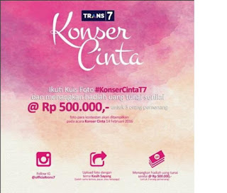 Info Kontes - Kontes Foto Konser Cinta Berhadiah Uang Tunai Total 1,5 Juta