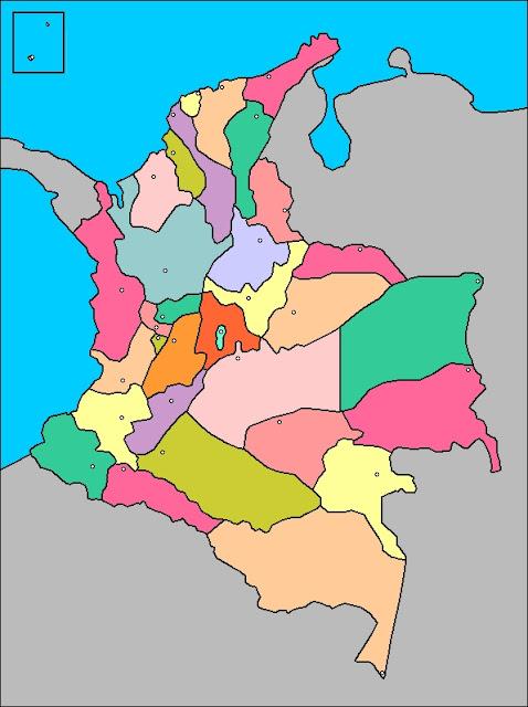 mapa de Colombia político