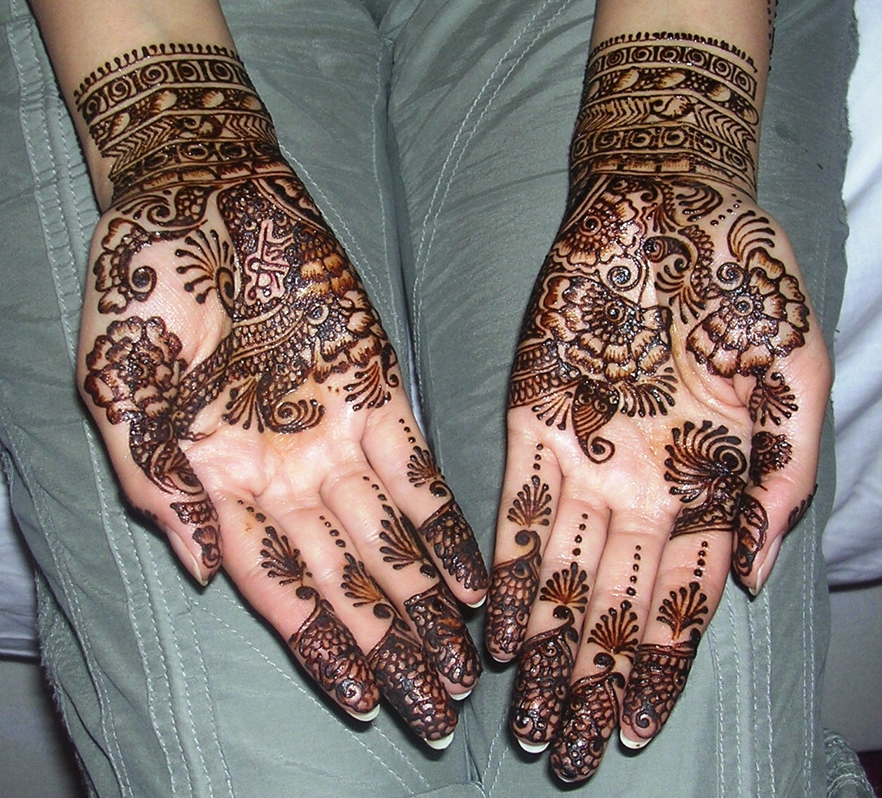 Mehndi Bridal Latest Design : Arabic bridal mehndi designs desings