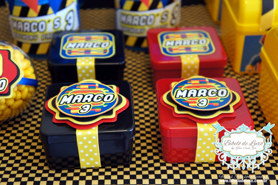 LEGO - Personalizados e Lembrancinhas aniversário de 3 aninhos Marco