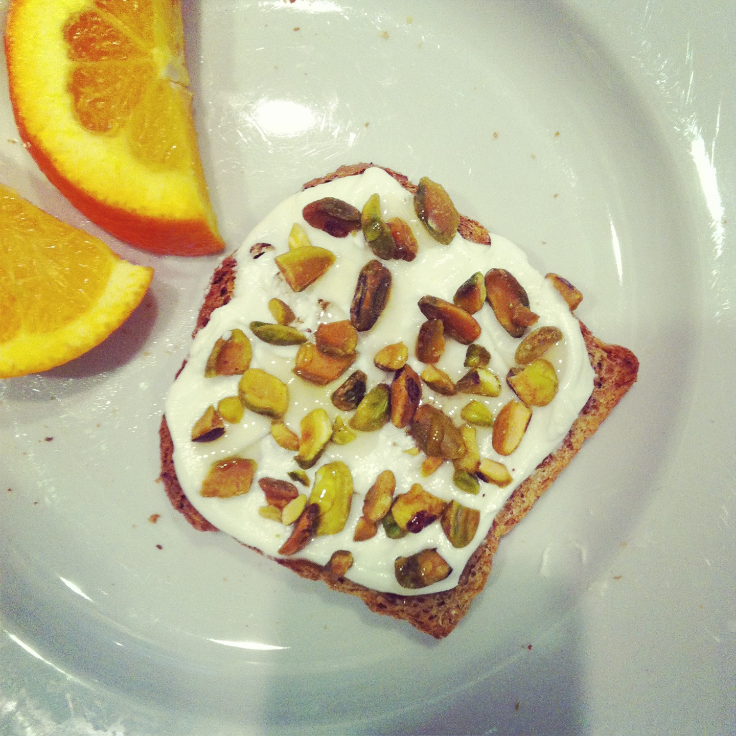 ... slices of sprouted bread (or your favorite whole grain bread), toasted