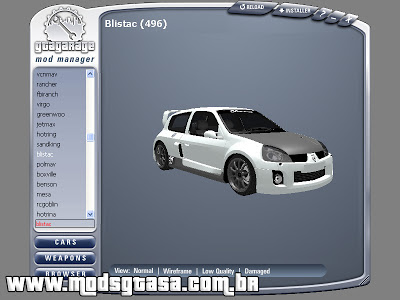 GGMM - GTA Garage Mod Manager para GTA San Andreas