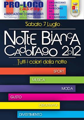Locandina notte bianca di Cadorago CO 7 luglio 2012