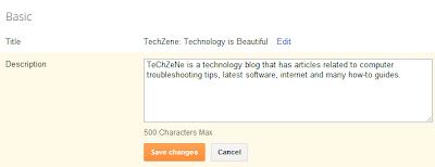 Add Meta Descriptions for Blogger Posts