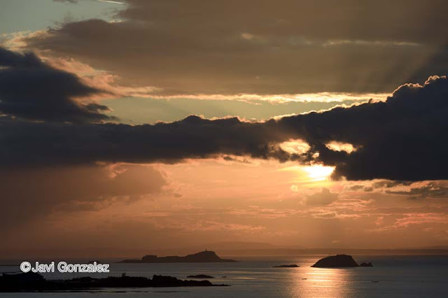 Puesta de sol en North Berwick, Scotland, Sunset in North Berwick, Scotland