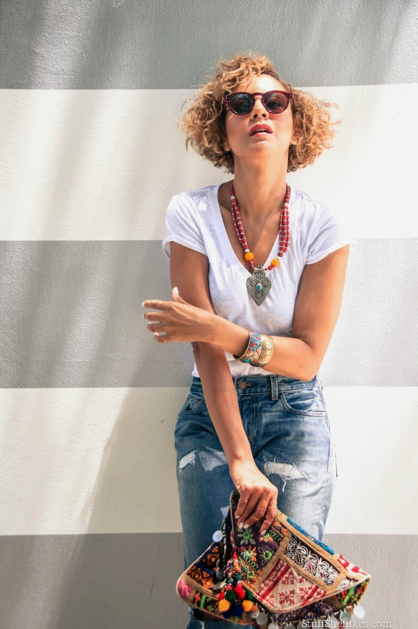 levis, white tee shirt, karma mantra, gypsy 05, best fashion blog, Taye hansberry instagram, Stuff She Likes, black blogger, blogger, fashion blogger, blonde fashion blogger,