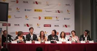 Fotografía de la rueda de prensa del equipo 'La Estrella' en el Festival de Cine de Málaga