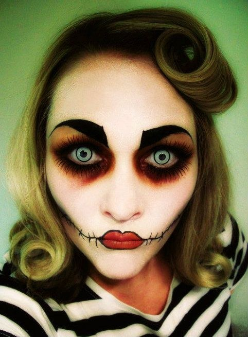 Halloween Makeup Ideas That Will Scare The Hell Out Of People - 25 halloween make up ideas that will scare the hell out of people