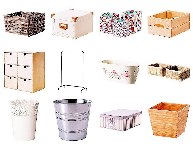 Ikea, Pudełka, Przechowywanie, Kosz, Doniczka, Minikomoda, wieszak
