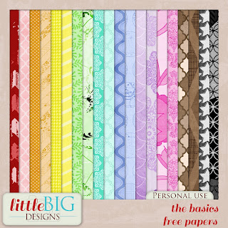 Free scrapbook papers from Little Big Designs