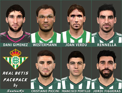PES 2016 Real Betis Facepack By SantanAji