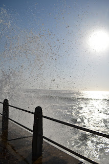 Sea spray off the promanade