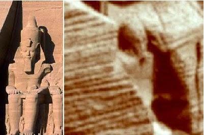 estatua egípcia em Marte