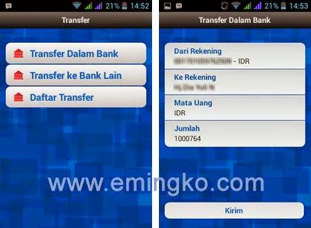 Cara Transfer Saldo Rekening BRI Melalui BRI Mobile
