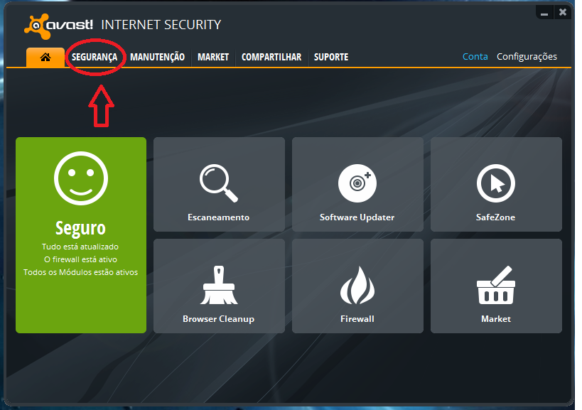 how to follow avast interface