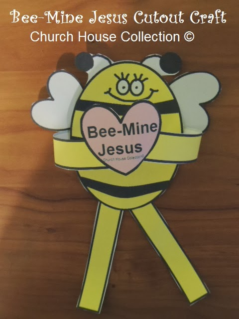 Church house collection blog bee mine jesus bulletin for Kids crafts for church