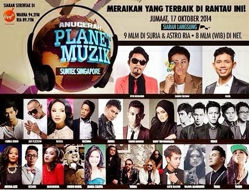 Keputusan Penuh Anugerah Planet Muzik APM 2014