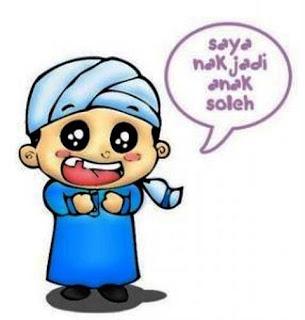 Gambar Kartun Lucu Anak Sholeh