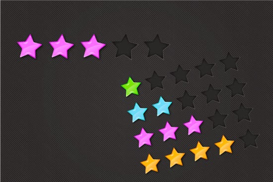 Colorful Glossy Rating Stars