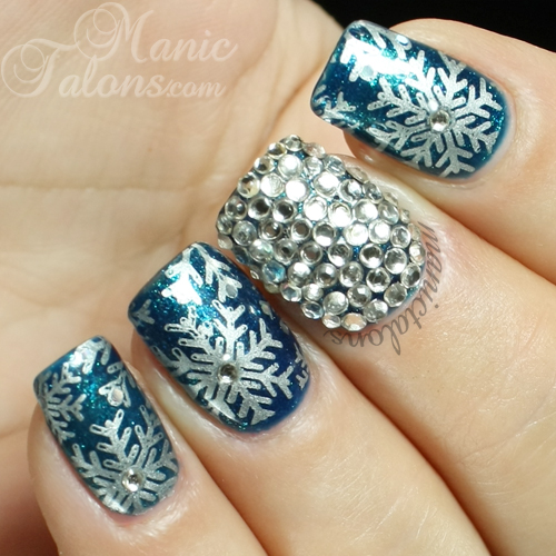 Snowflakes and Crystals Nail Art