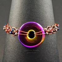Beaded Hoop Link Bracelet