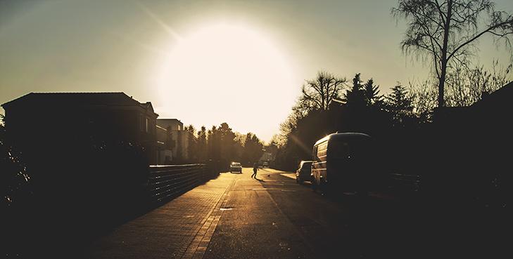 Das lange Strahlen eines sonnigen Abends. Foto © fieberherz.de