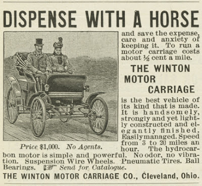 The First Automobile Advertisements