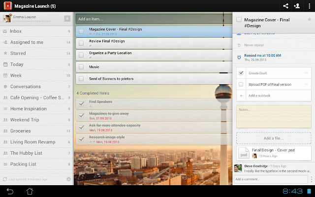 Wunderlist windows best app
