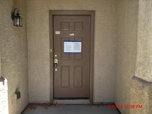 Many times the owner is no longer in the property has vacated with no intention of bringing the note current moved out of state or has a tenant currently ... & What is this darn Blue Tape doing my door? | Rapid Trustee Sale