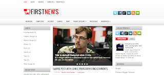 First News Blogger Template is a 3 Column Wp To Blogger Converted blogger Template