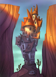 a Will Terry Digital Painting of House type Castle