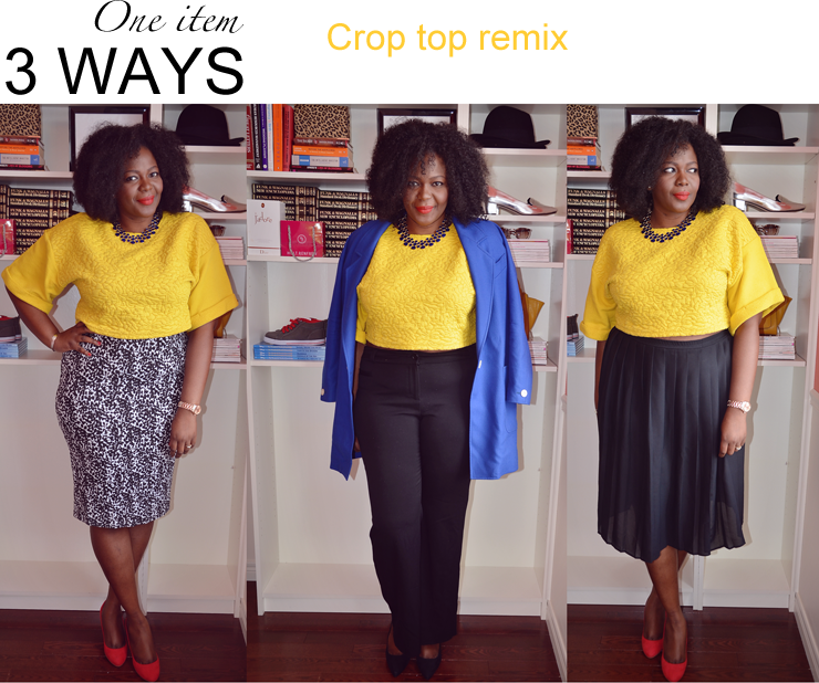 one item 3 ways: how to wear a crop to #plussize fashion for women