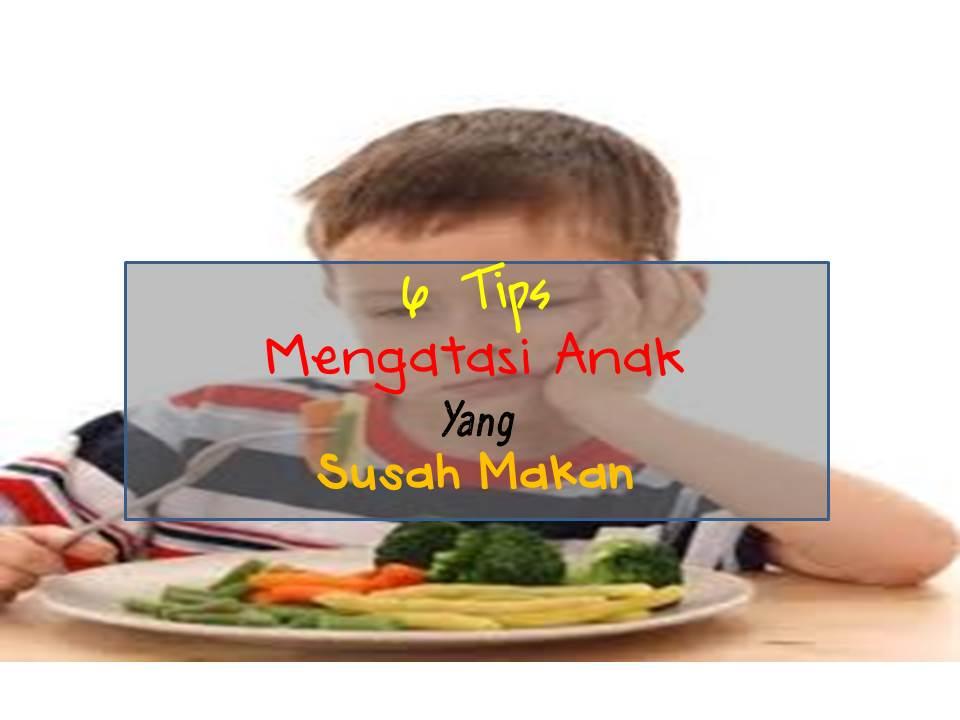 6 tips mengatasi anak yang susah makan