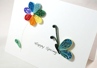 rainbow daisy greeting card