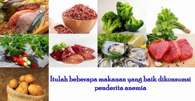 Pantangan Makanan Penderita Anemia