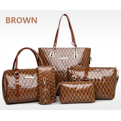 MULTI FUNCTION BAG (6 IN 1 SET) - BROWN