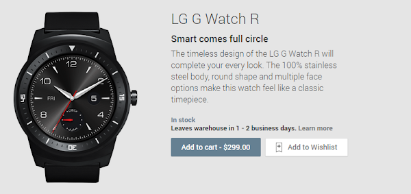 LG G Watch R - Google Play Store