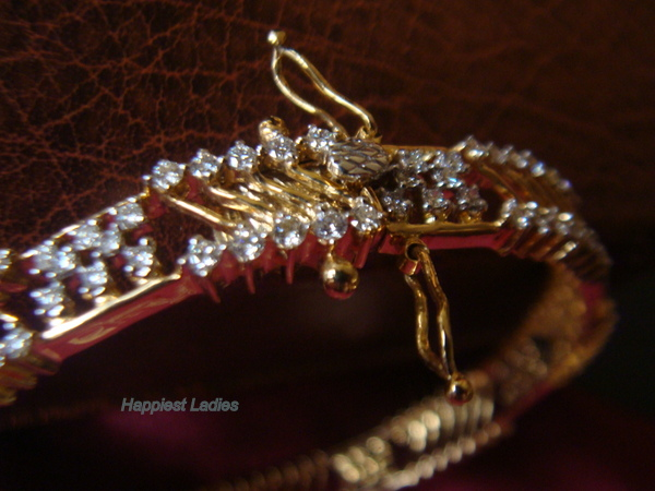 Screw lock Diamond Bangle+diamond bangle designs
