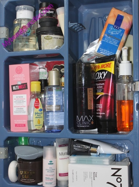 Products used in my morning and night face cleansing routine