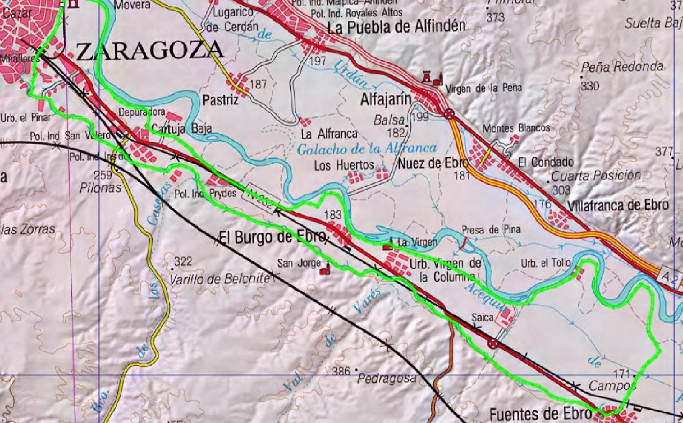 zona ruta: