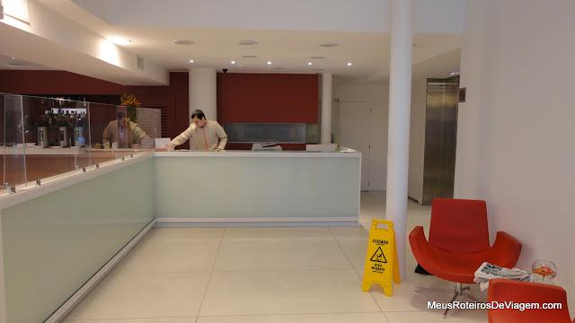 Recepção do Hotel Intercity Premium - Montevidéu, Uruguai