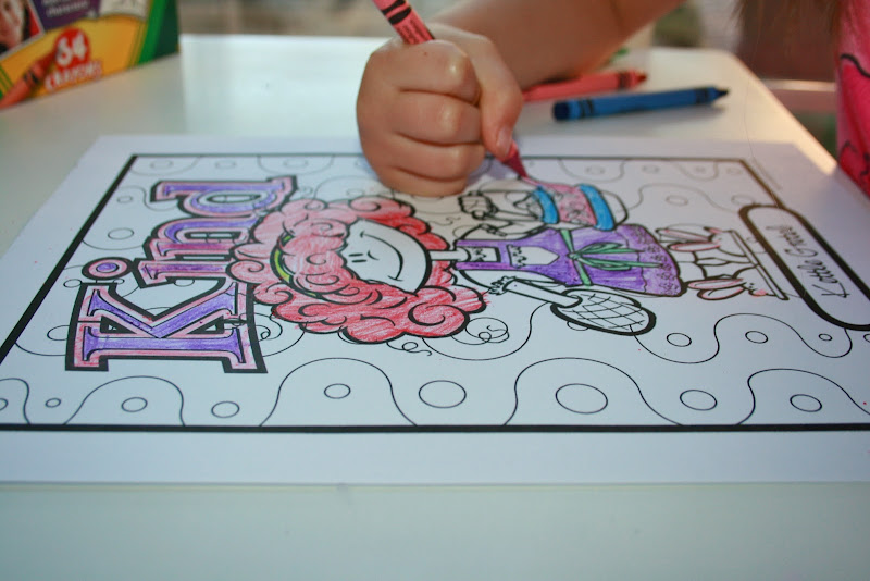 Audrey has also enjoyed coloring the cute coloring pages that  title=