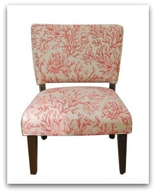fabric coral chair