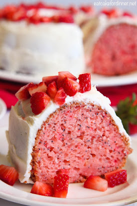 Strawberry Poppyseed Bundt Cake