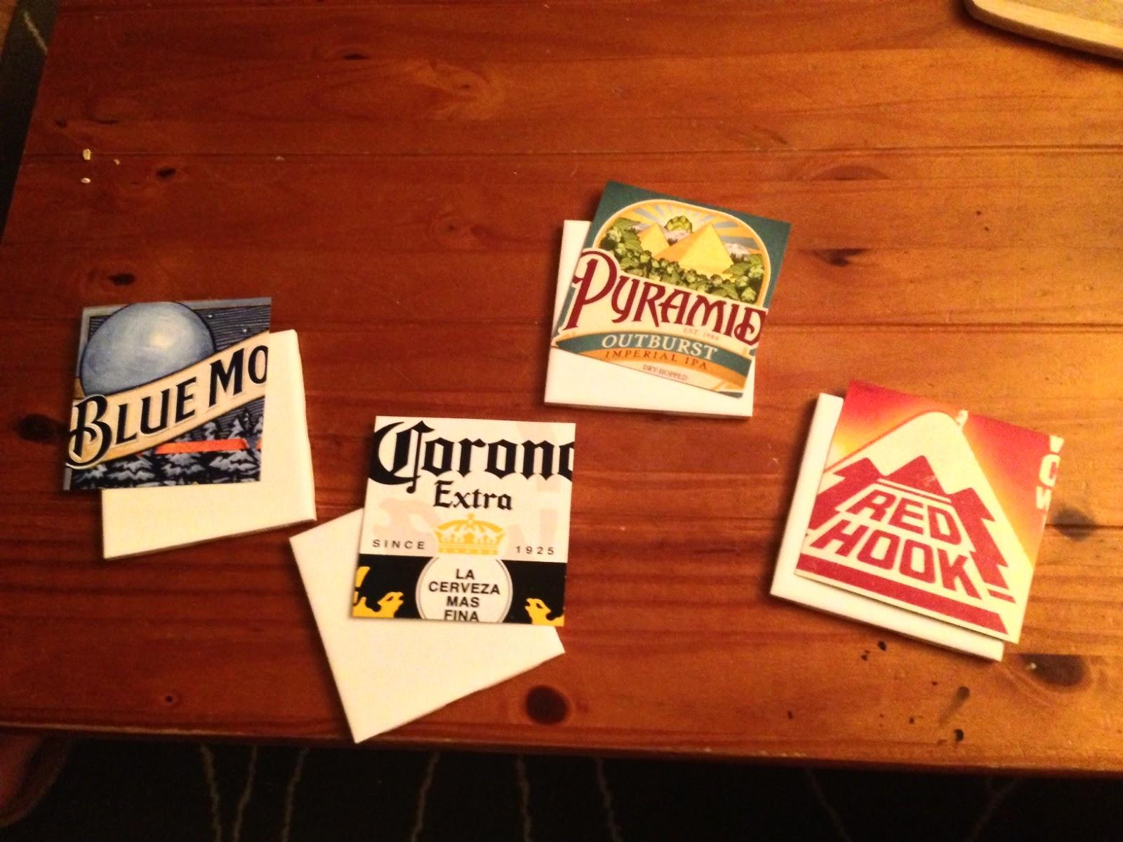 Post grad crafting diy beer coasters - Cardboard beer coasters ...