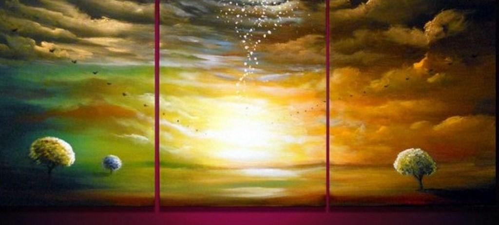 Cuadros modernos pinturas y dibujos paisajes faciles de - Cuadros faciles de copiar ...