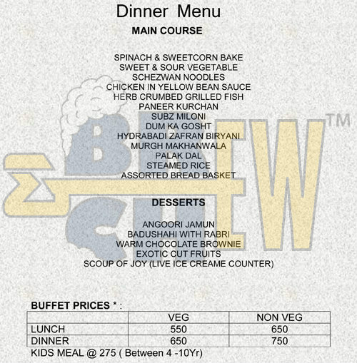 Wareabouts Grill And Lounge Menu